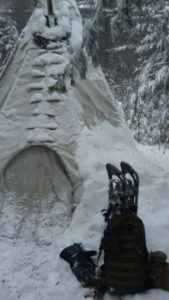 Pack and Snowshoes Out of My Tipi