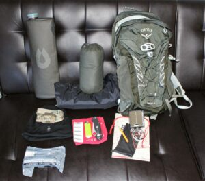 10 Day hike loadout.