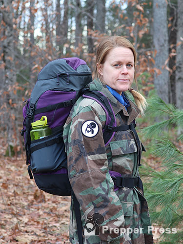 mid size womens bug out bag side PP