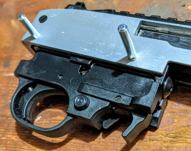trigger assembly takedown pins