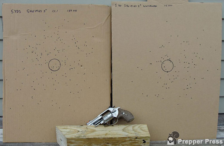 Rat Shot Pattern with a revolver