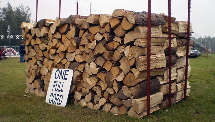 4x4x8 stacked cord of firewood