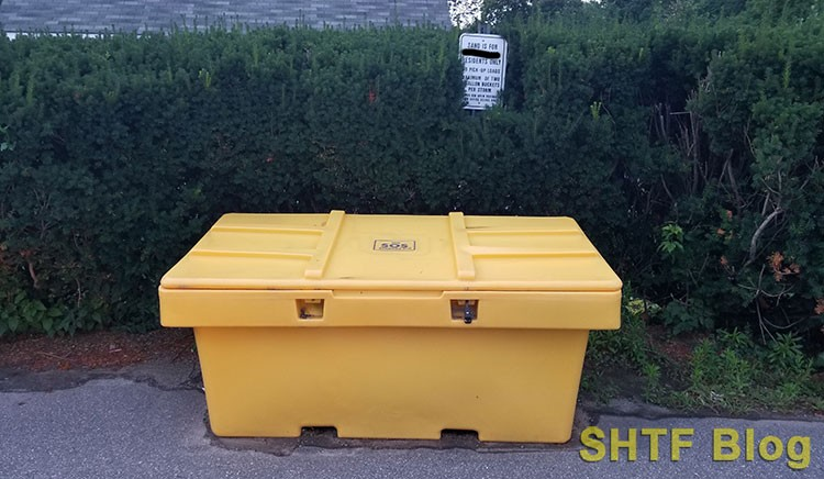 free sand bin at town office